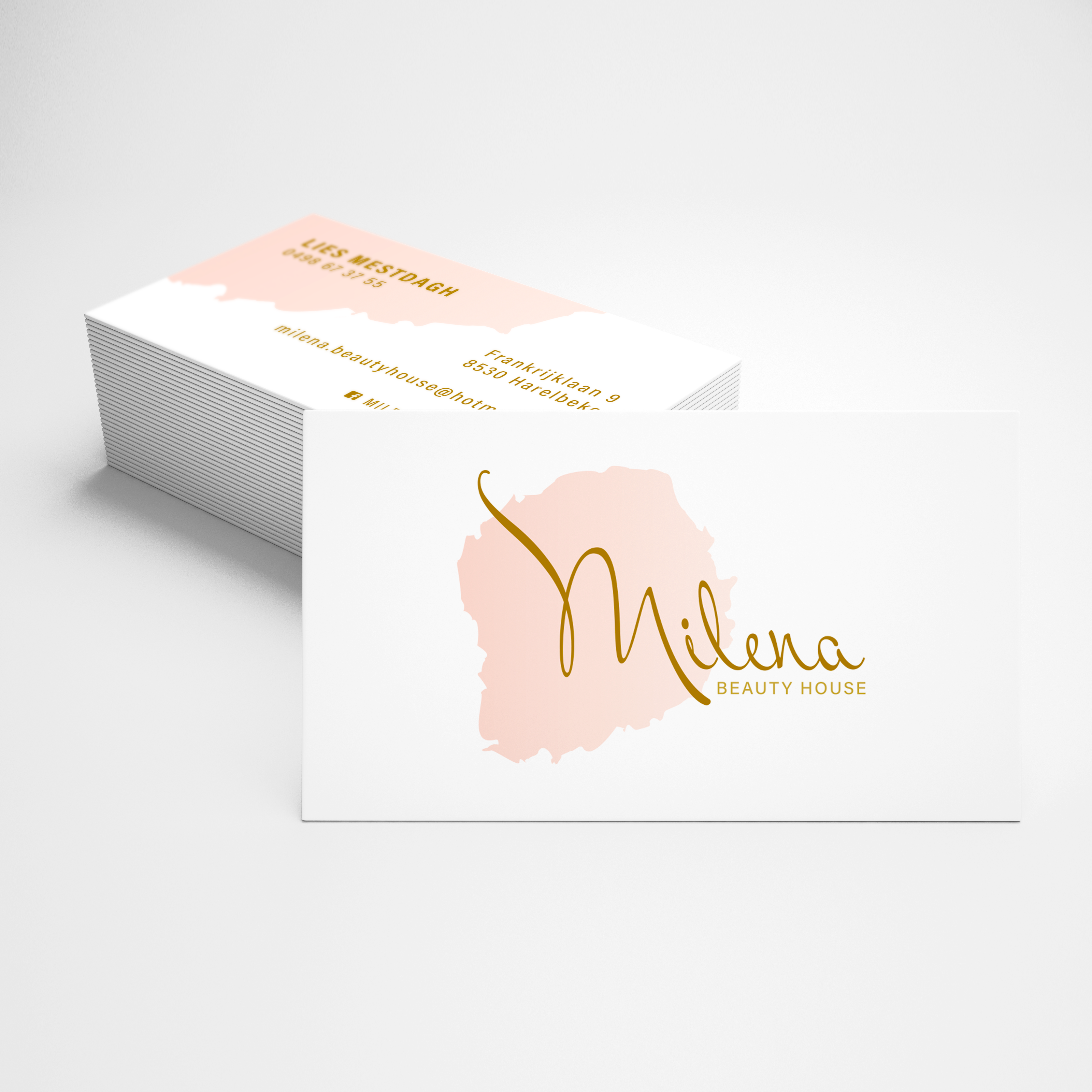 Logo & visitekaartje Milena beauty house