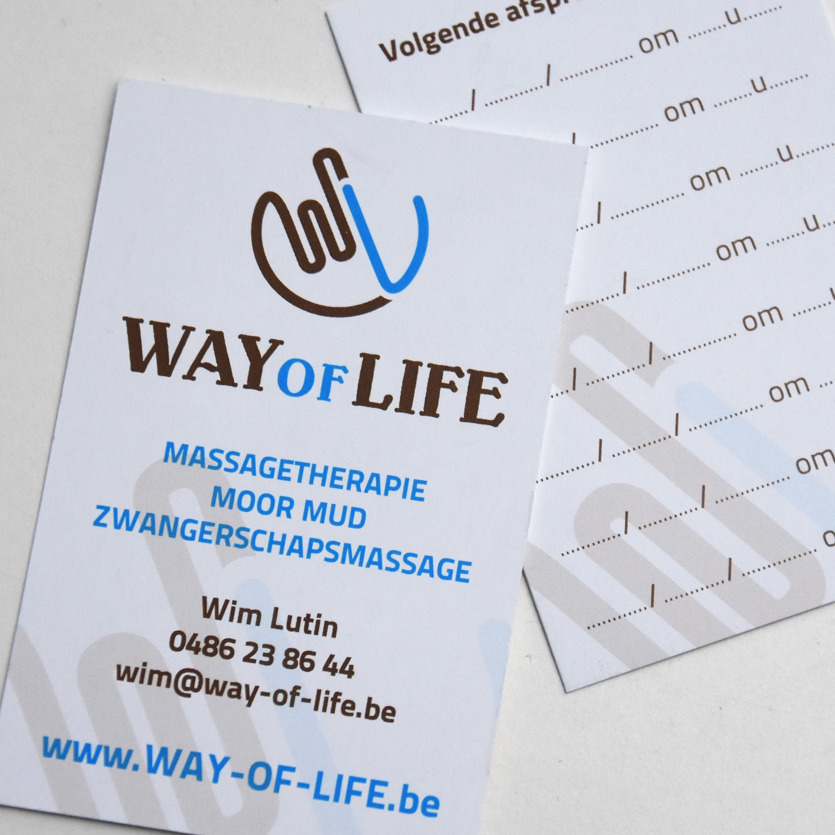 Logo & visitekaartje Way of Life